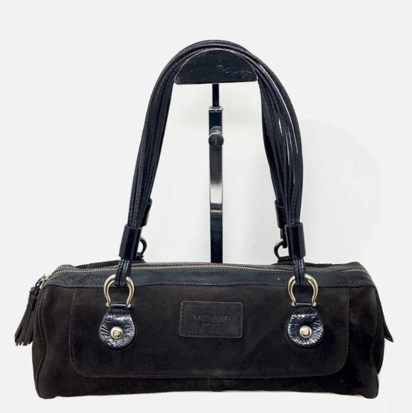 kate spade Handbags - Kate Spade Handbag Brown Suede Barrel Satchel